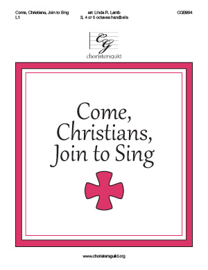 Come Christians, Join to Sing (3, 4 or 5 octaves)