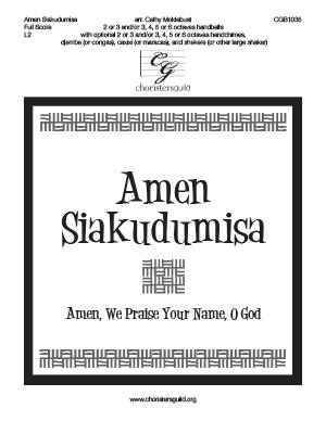 Amen Siakudumisa - Full Score