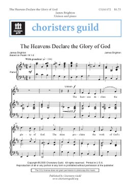 The Heavens Declare the Glory of God (Audio Download)