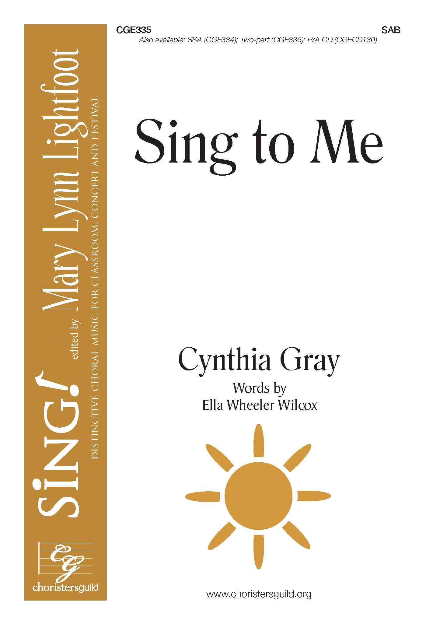 Sing to Me - SAB