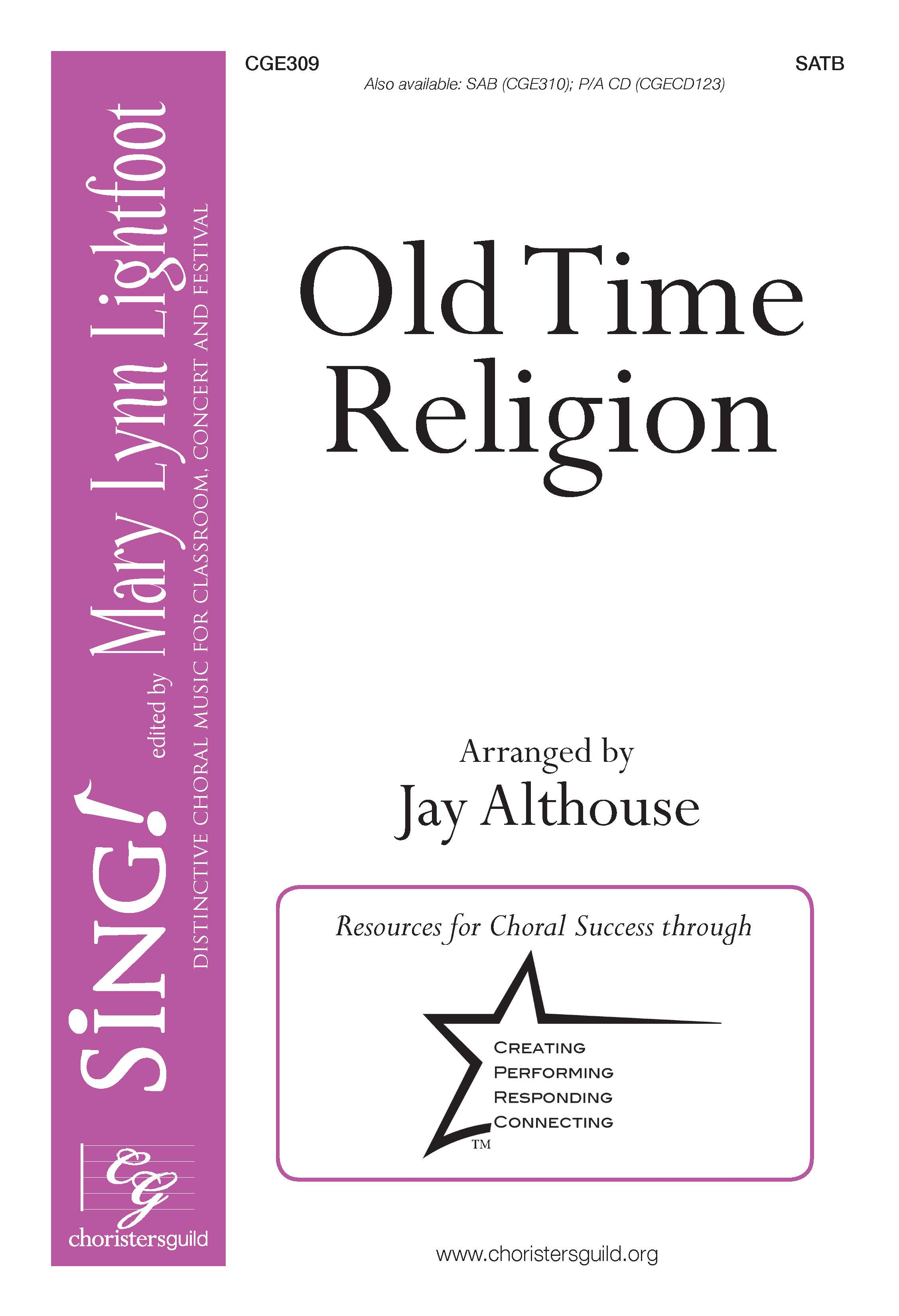 Old Time Religion - SATB