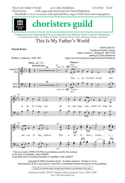 This is My Father's World (Audio Download)