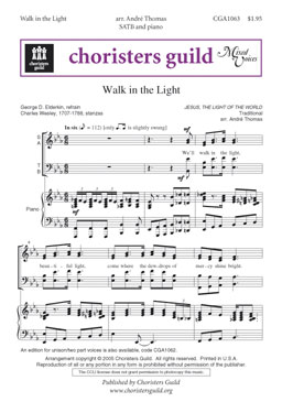 Walk in the Light (SATB Audio Download)