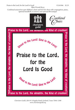 Praise to the Lord, for the Lord Is Good (Audio Download)