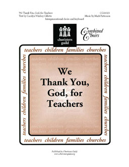 We Thank You, God, for Teachers (Audio Download)