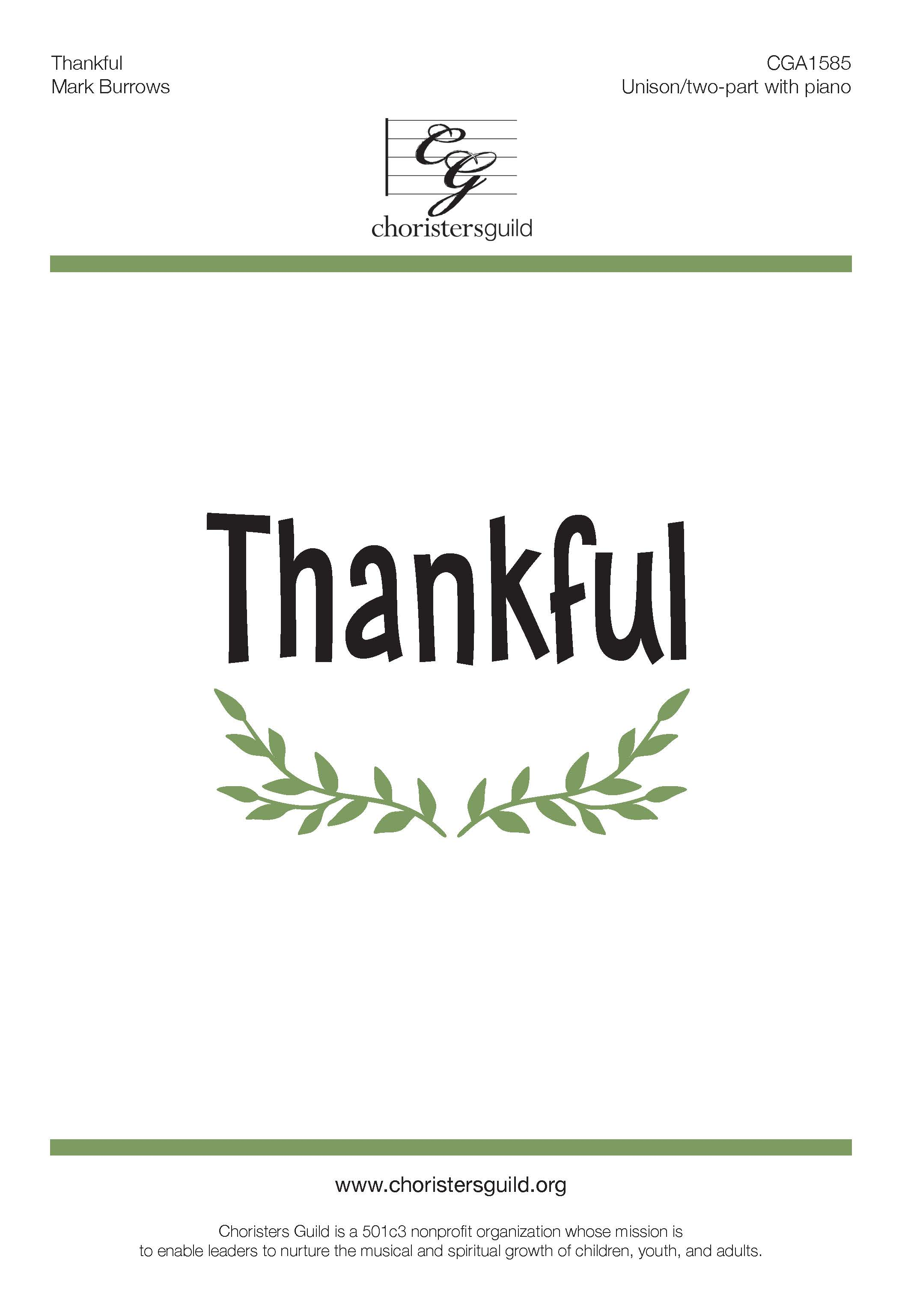 Thankful - Unison/Two-part