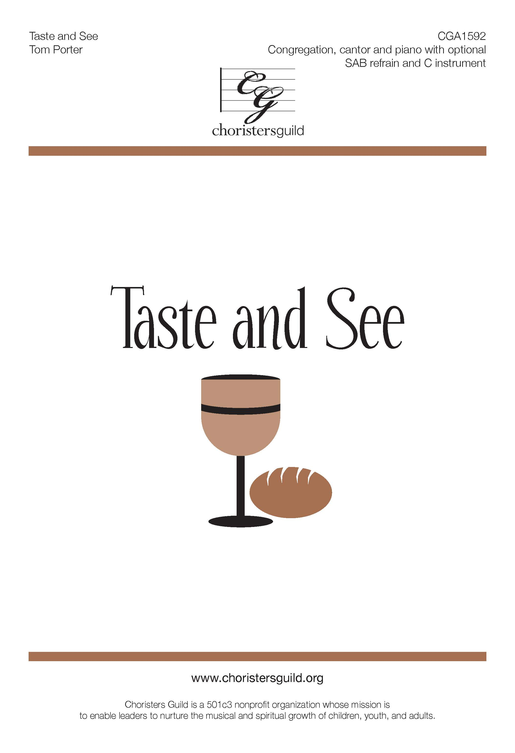 Taste and See - Cantor, SAB and Congregation