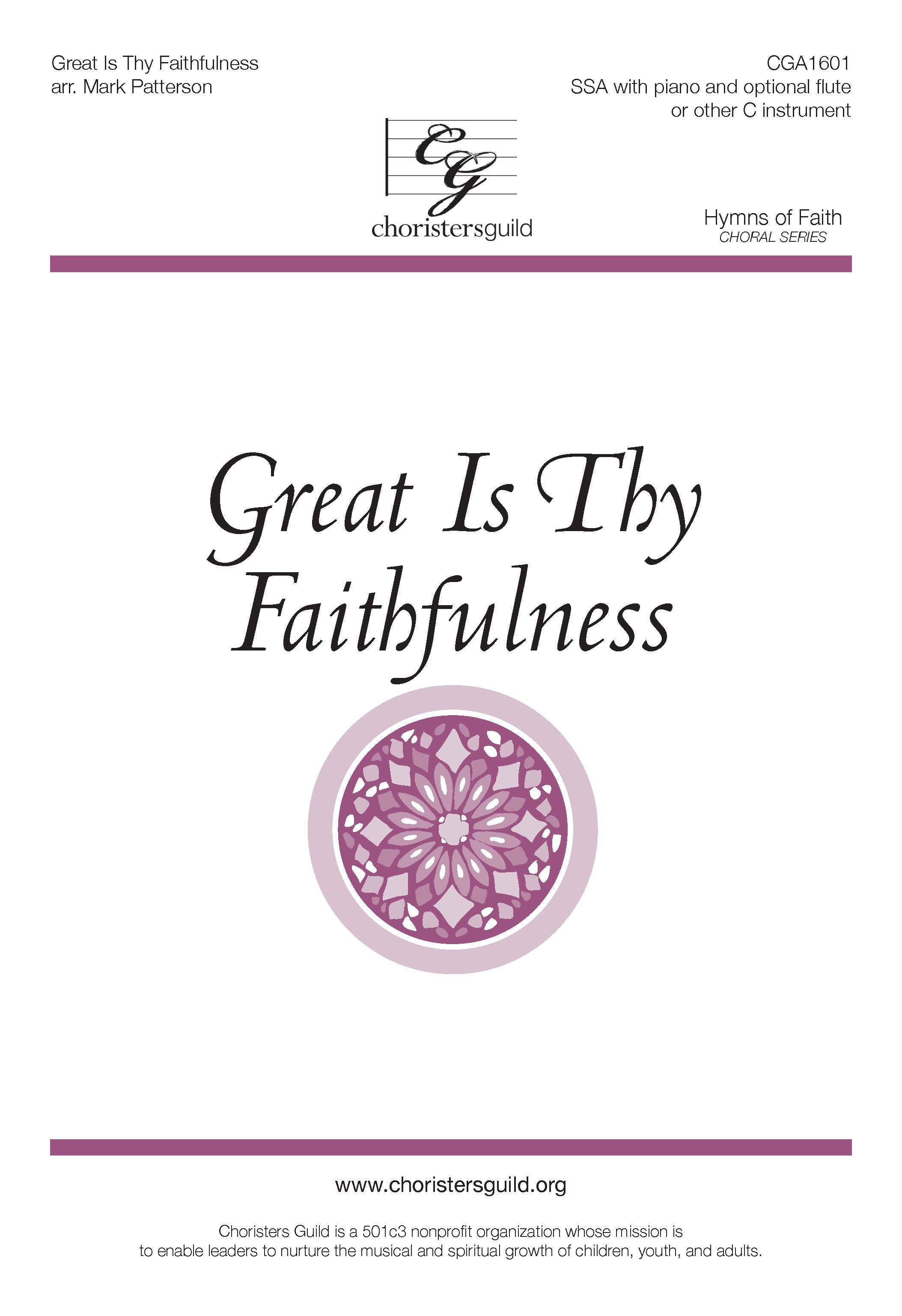 Great Is Thy Faithfulness - SSA