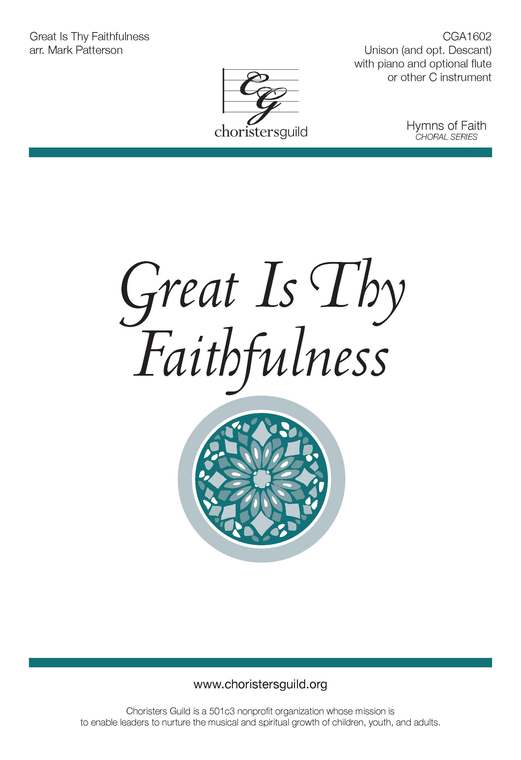 Great Is Thy Faithfulness - Unison