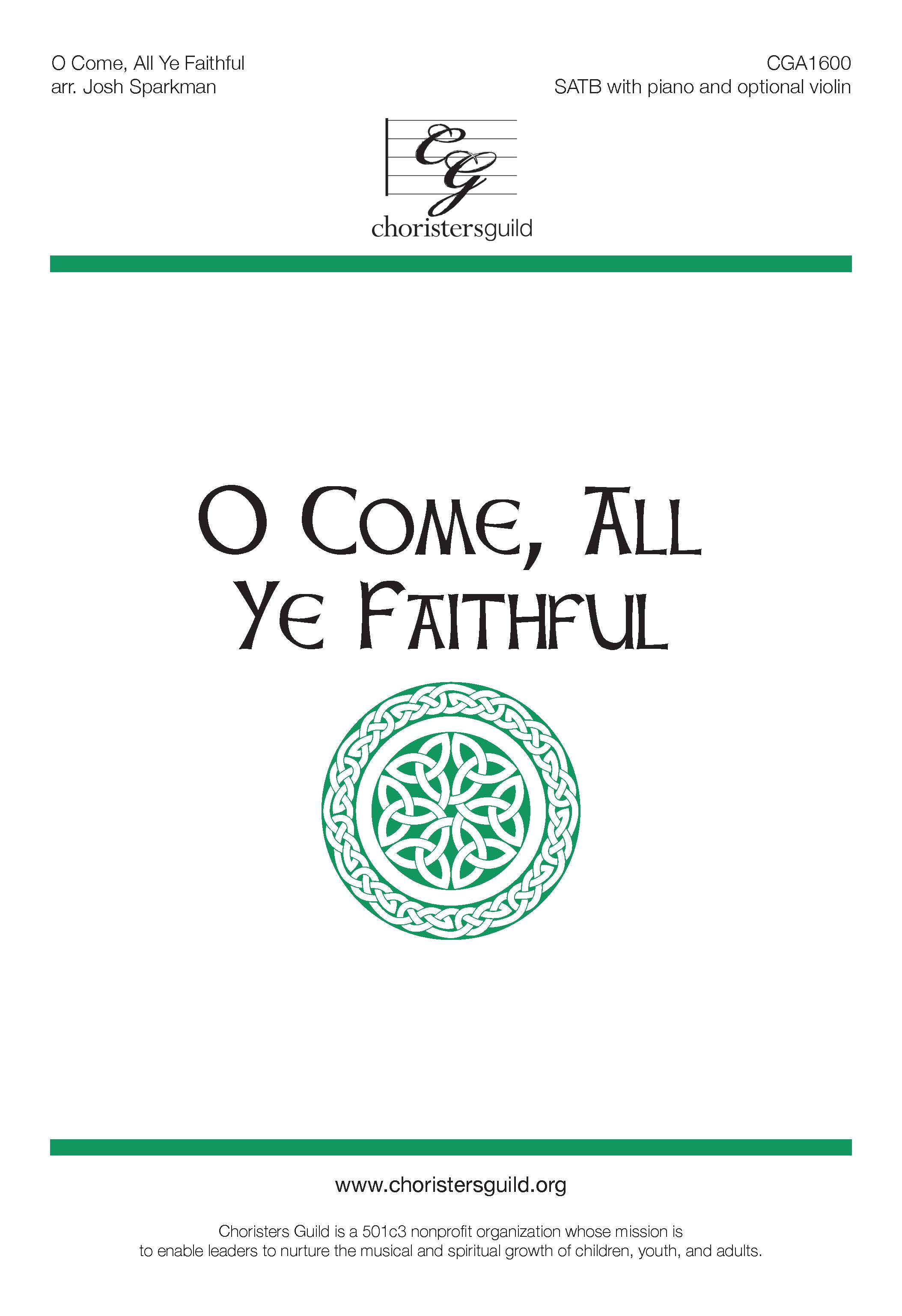 O Come, All Ye Faithful - Violin Part