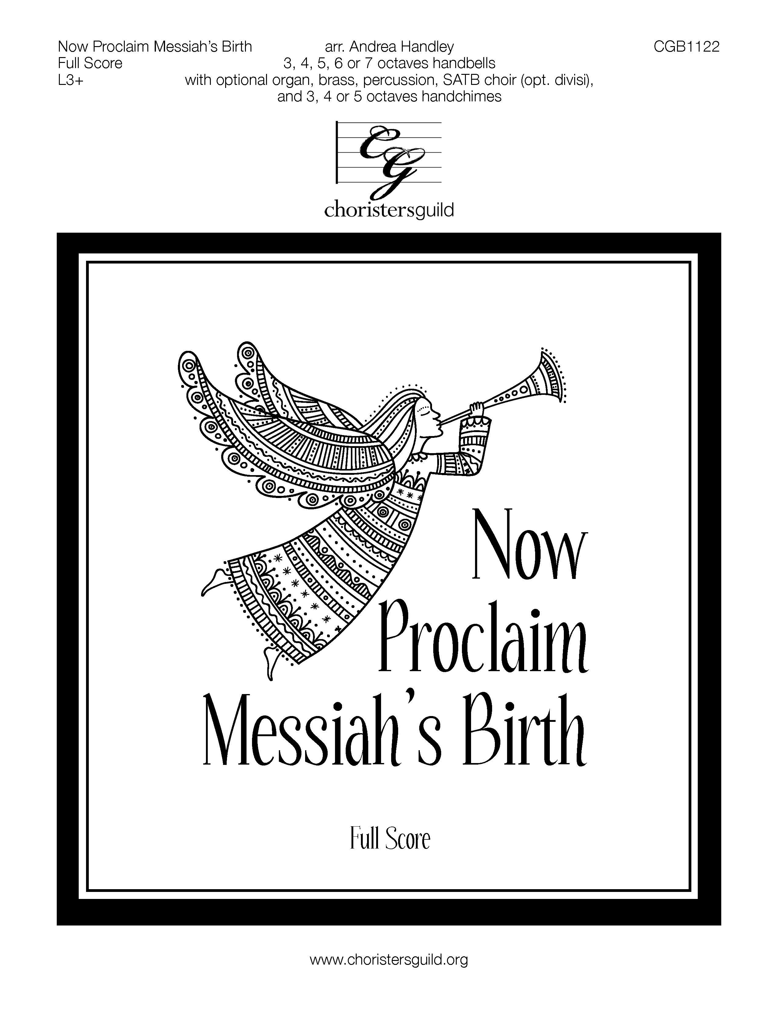 Now Proclaim Messiah's Birth - Full Score