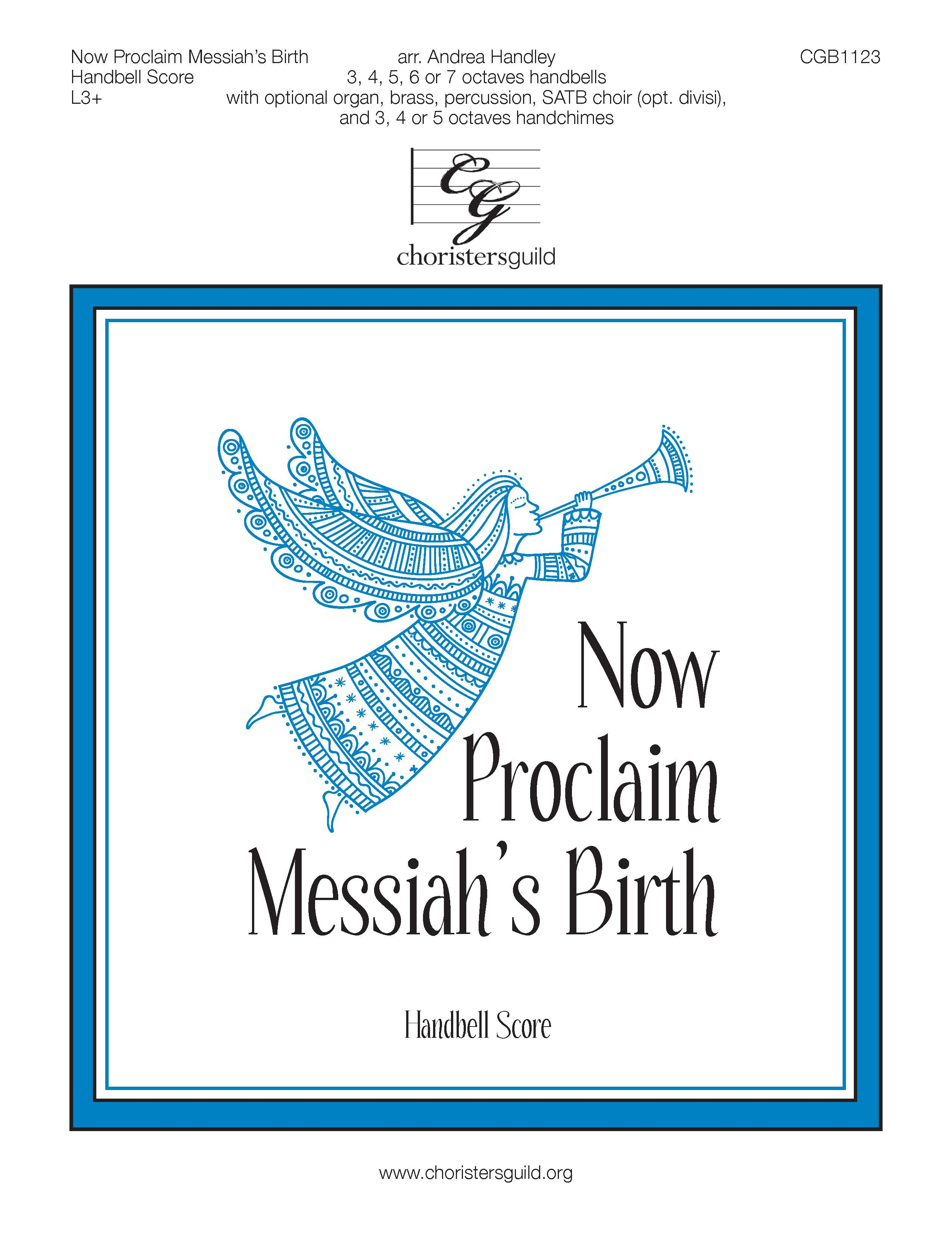 Now Proclaim Messiah's Birth - Handbell Score