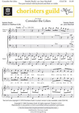 Consider the Lilies (Audio Download)
