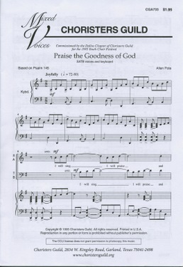 Praise the Goodness of God (Audio Download)