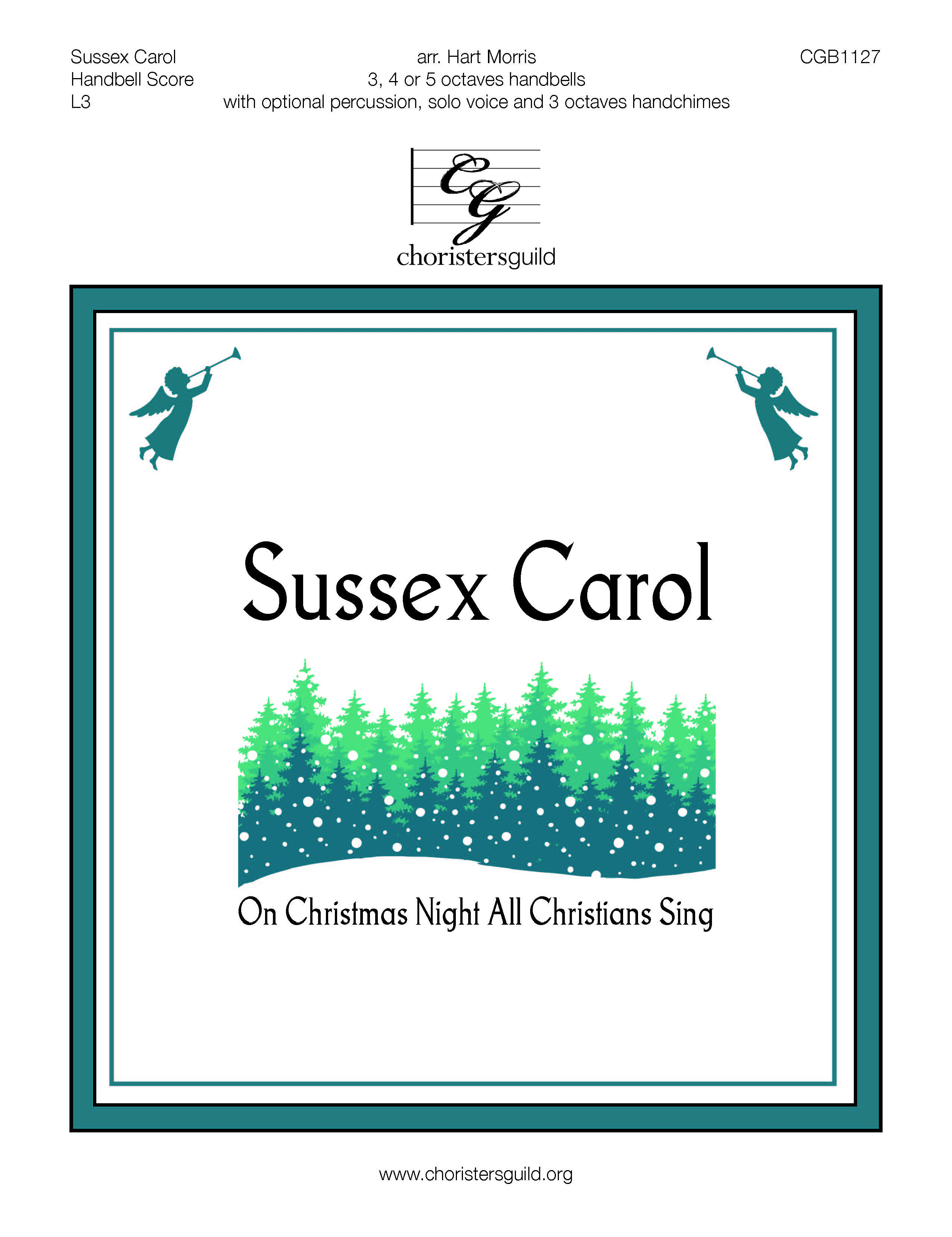 Sussex Carol - 3-5 octaves (handbell score)