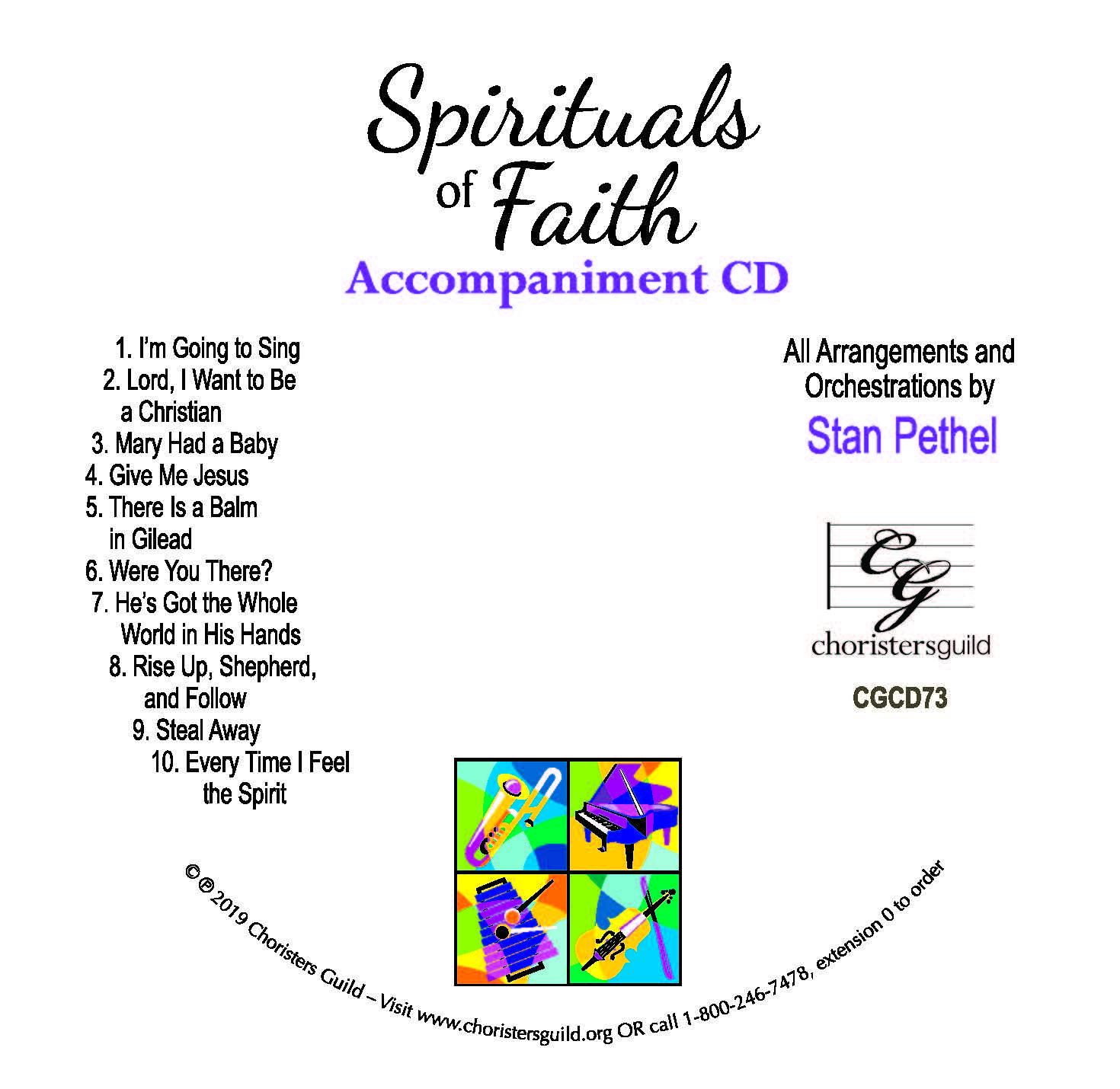 Spirituals of Faith - Accompaniment CD