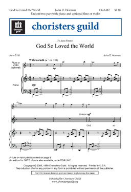 God So Loved the World (Audio Download)