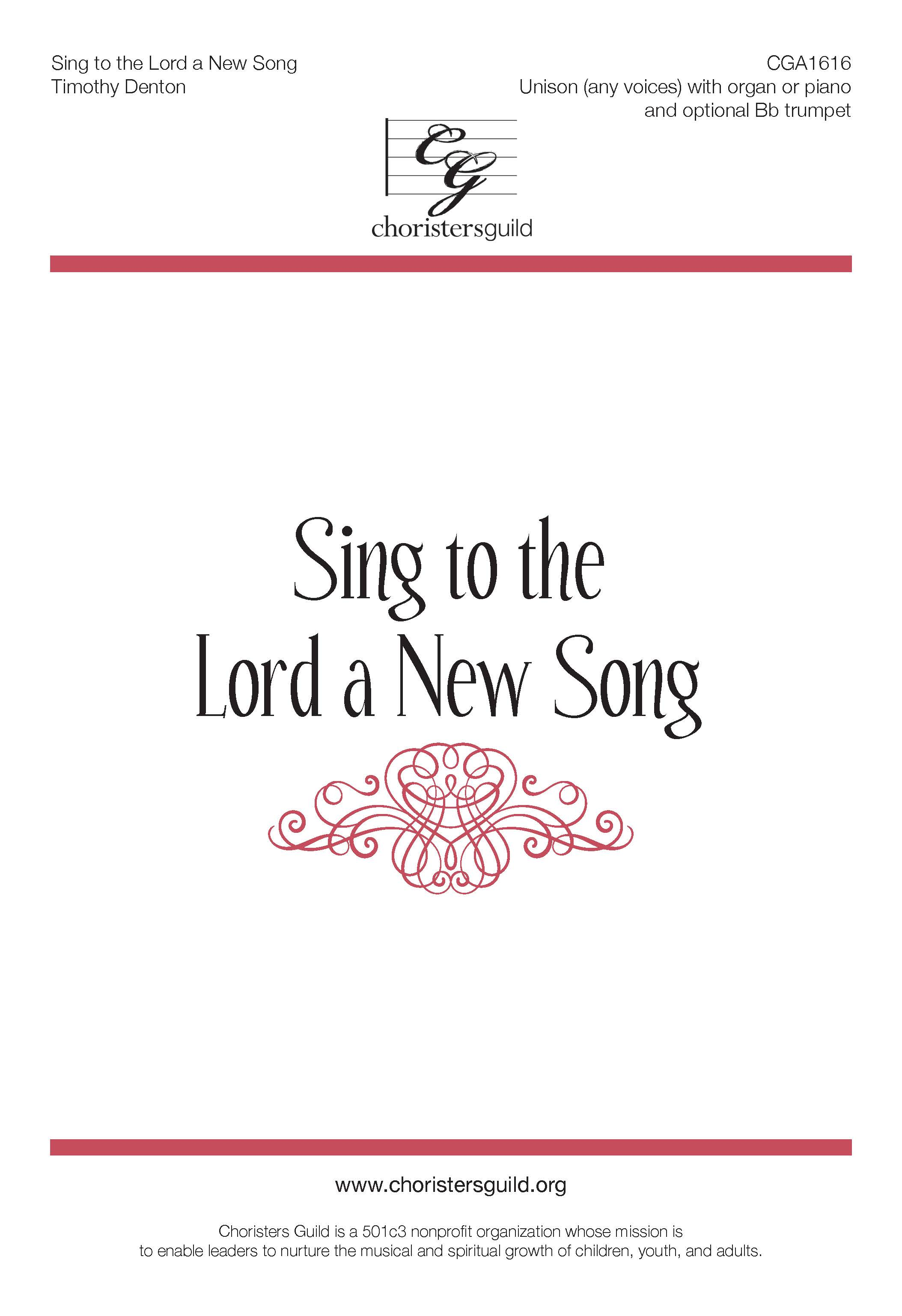 Sing to the Lord a New Song - Unison