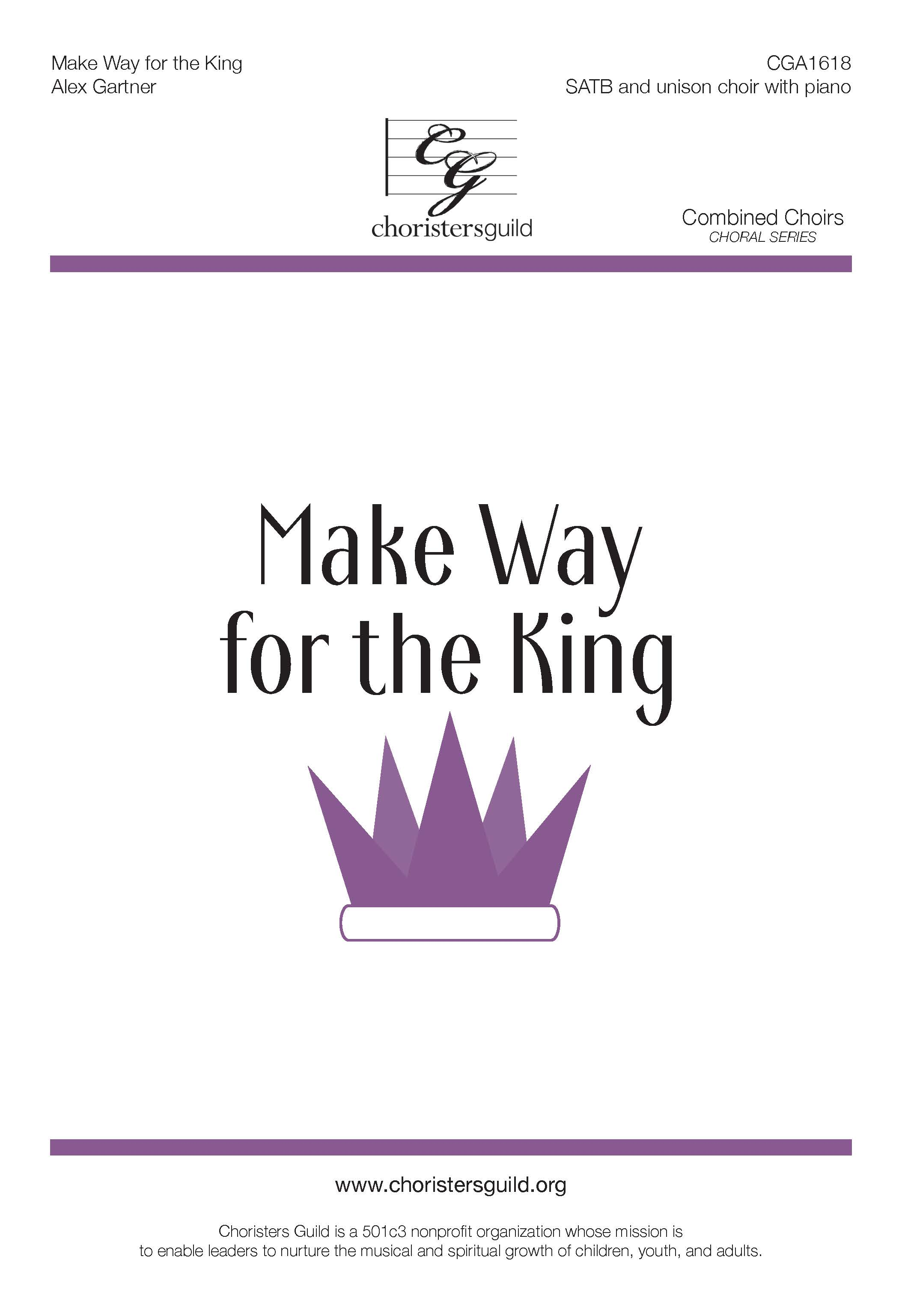 Make Way for the King - SATB plus Unison Choir