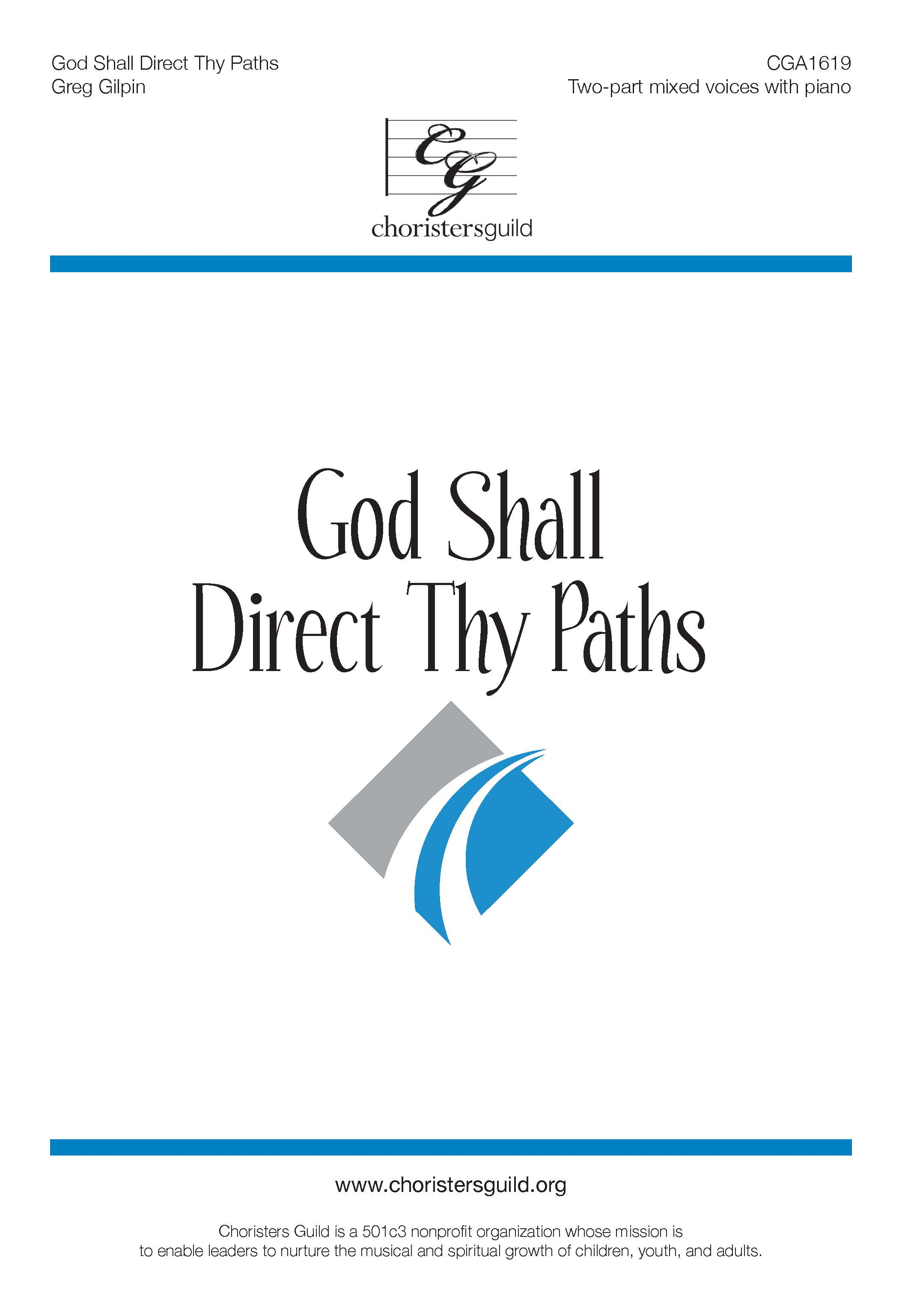 God Shall Direct Thy Paths - Two-part mixed