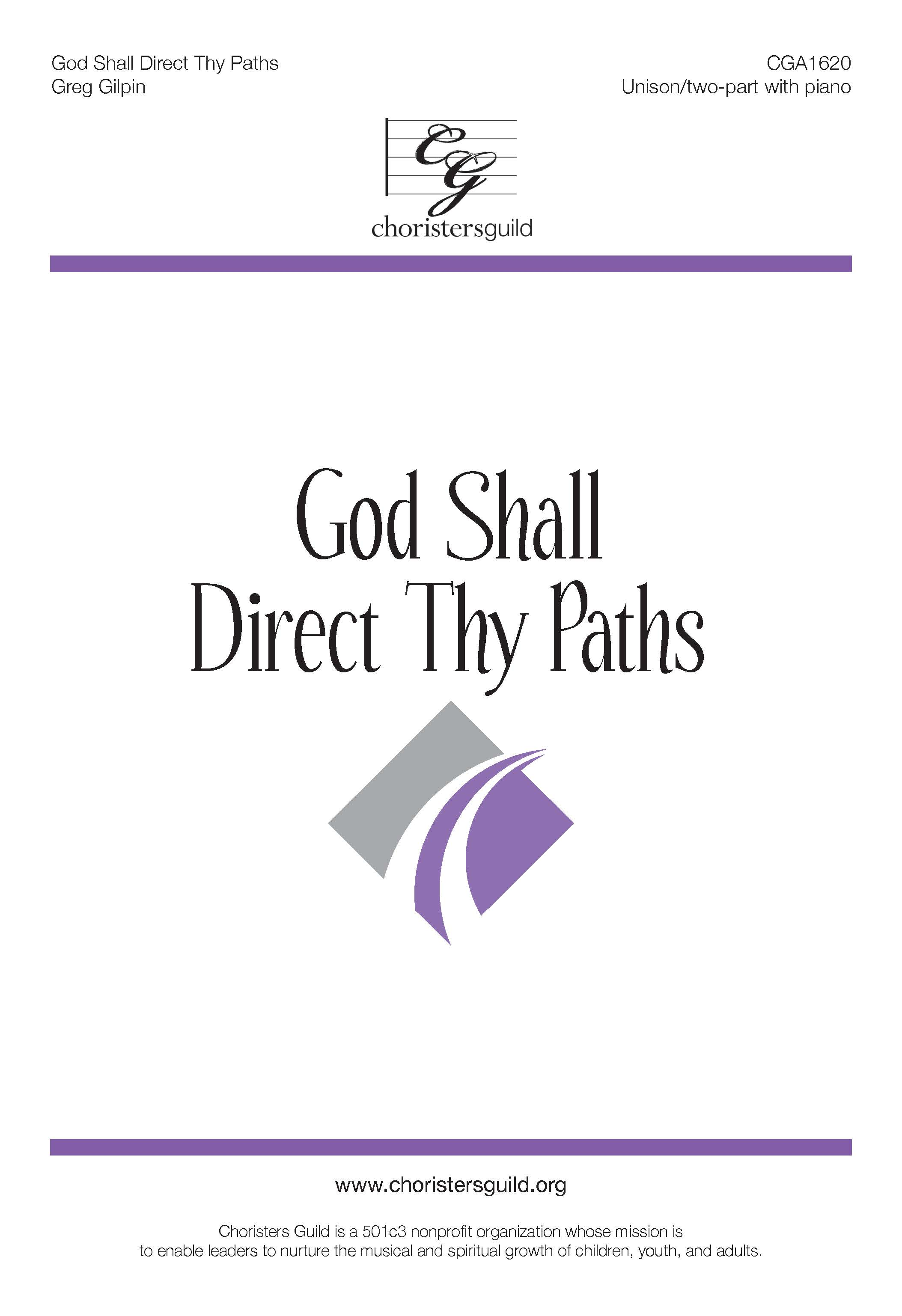 God Shall Direct Thy Paths - Unison/Two-part
