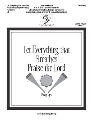 Let Everything that Breathes Praise the Lord - Full Score