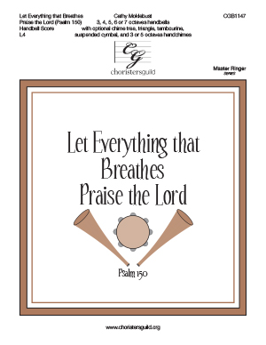 Let Everything that Breathes Praise the Lord -Handbell Score