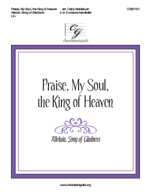 Praise, My Soul, the King of Heaven - 2-3 octaves