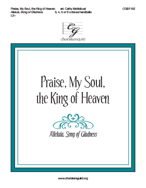 Praise, My Soul, the King of Heaven - 3-6 octaves