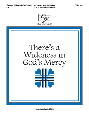 There's a Wideness in God's Mercy - 3-5 octaves