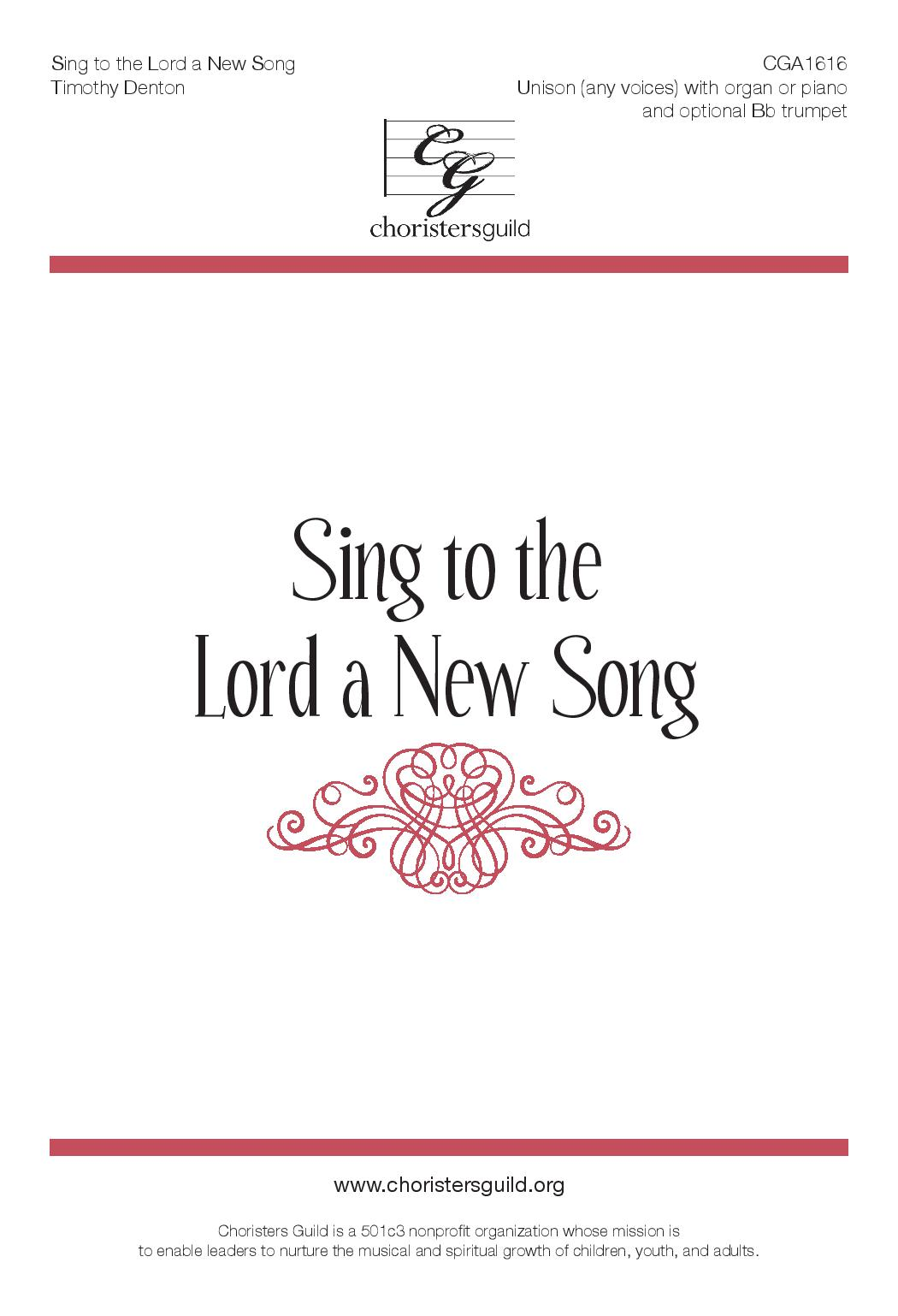 Sing to the Lord a New Song (Accompaniment Track)