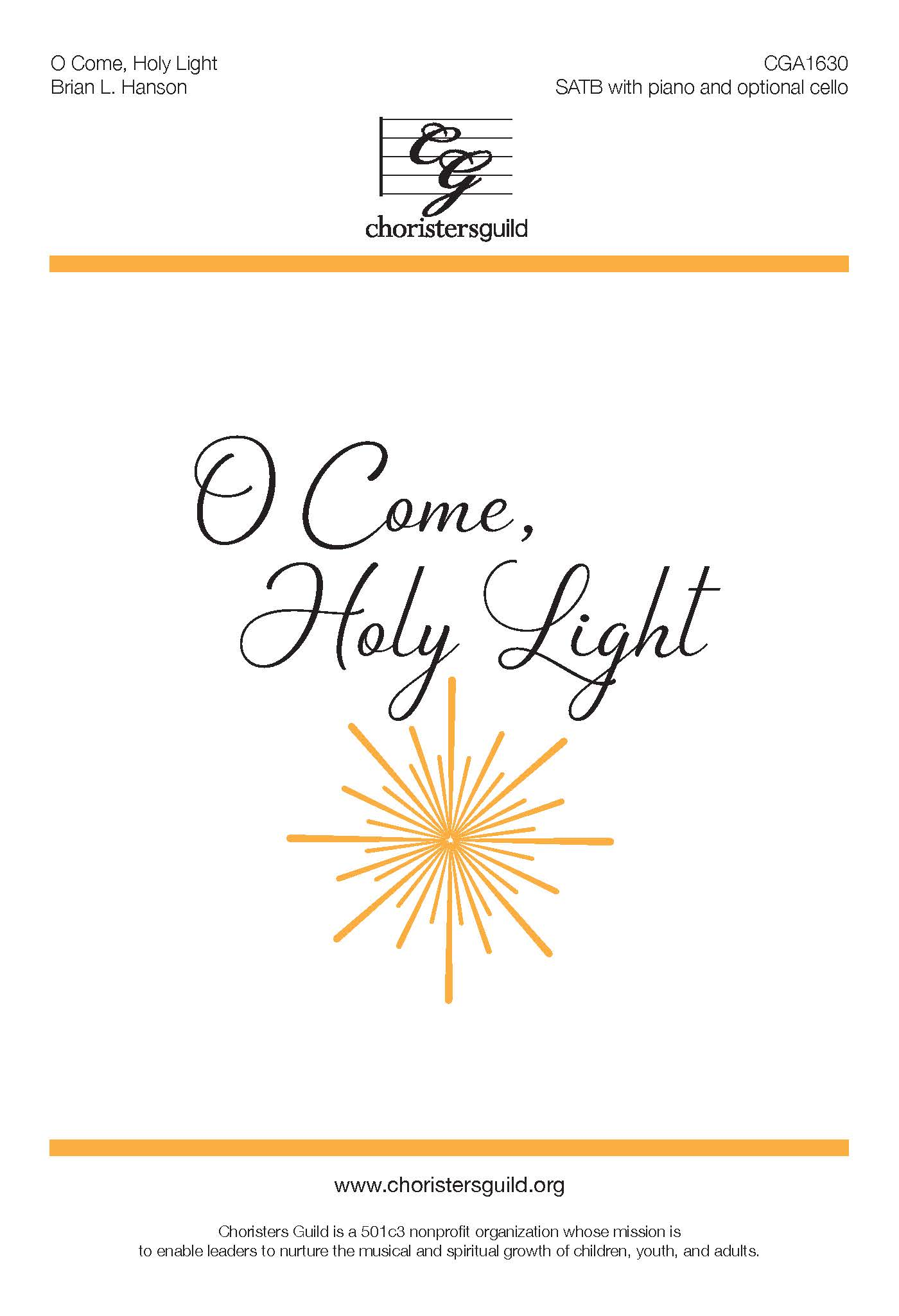 O Come, Holy Light - SATB