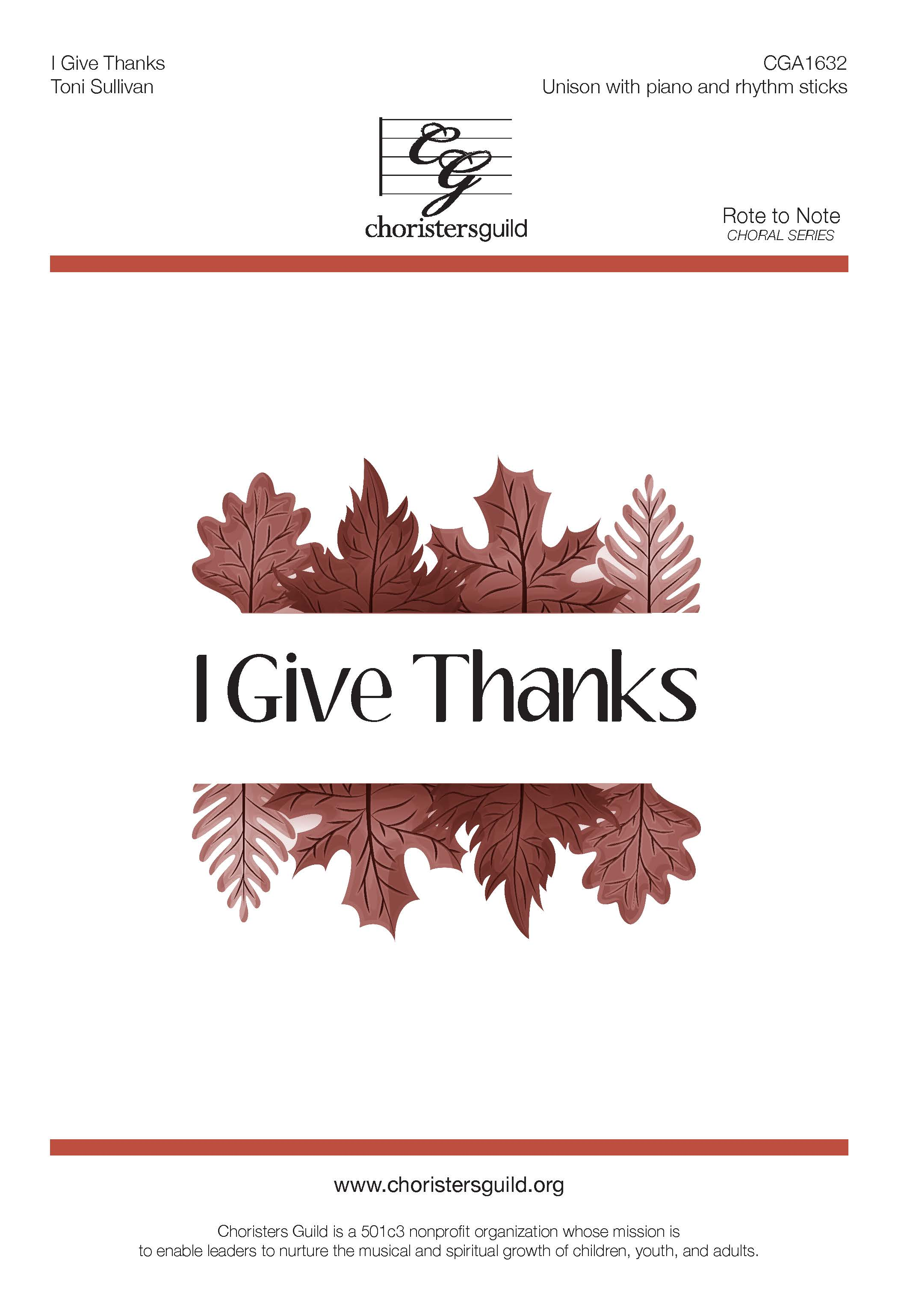 I Give Thanks - Unison