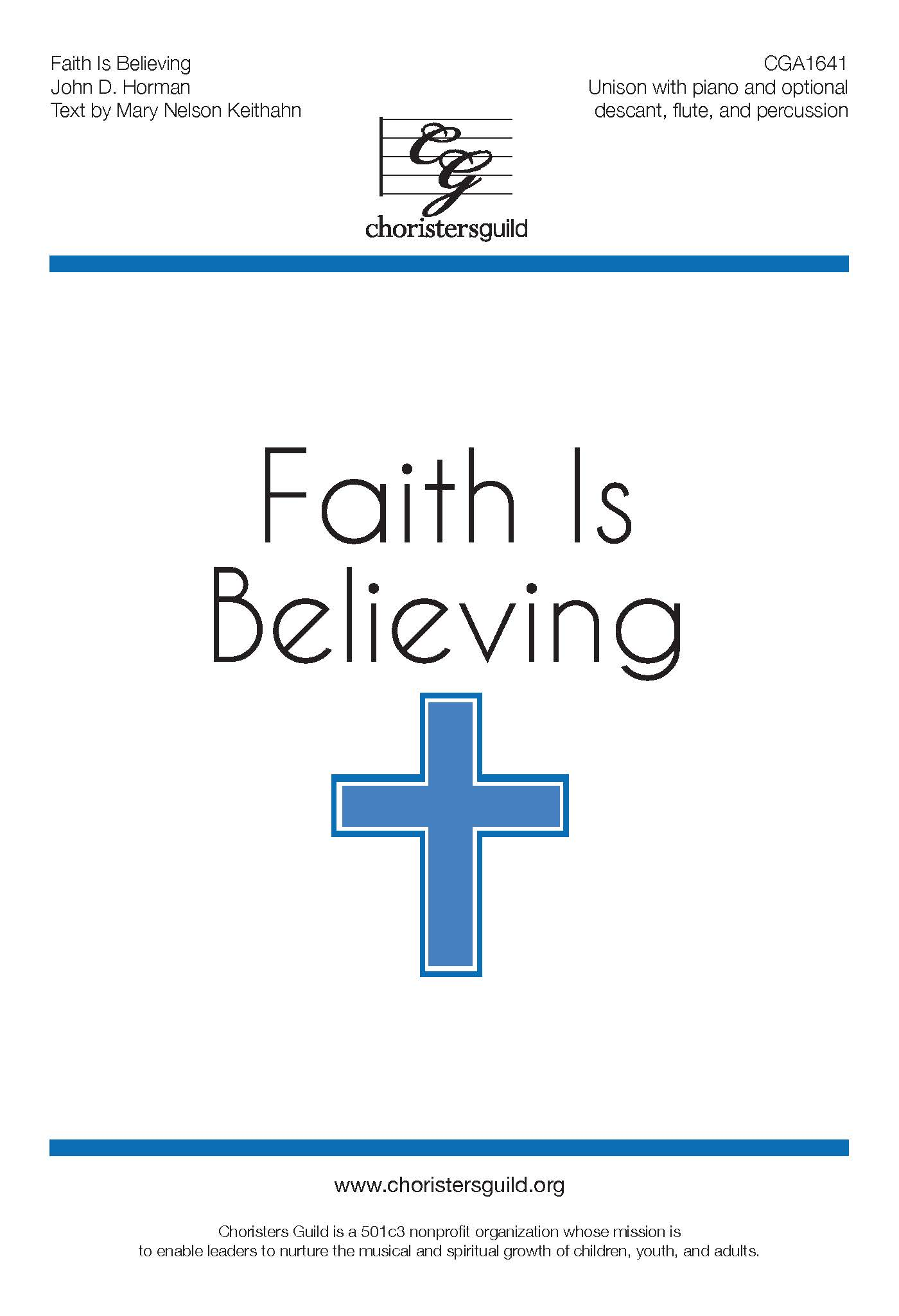 Faith is Believing - Unison