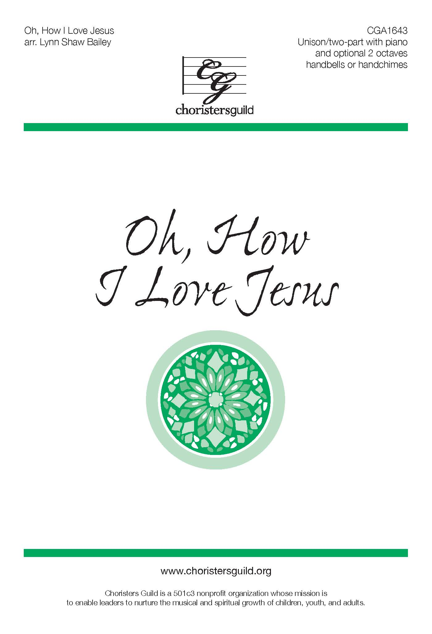 Oh, How I Love Jesus - Unison/Two-part