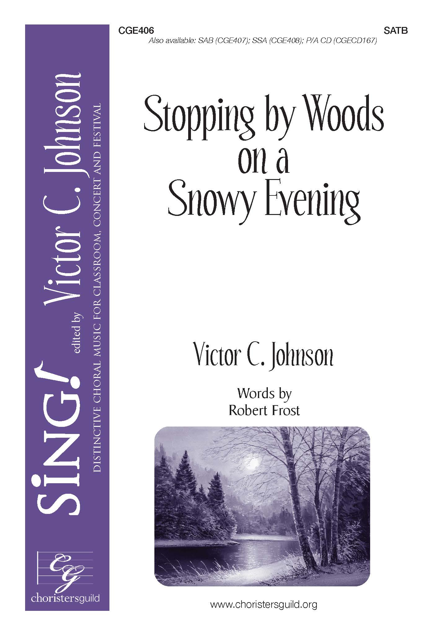 Stopping by Woods on a Snowy Evening - SATB