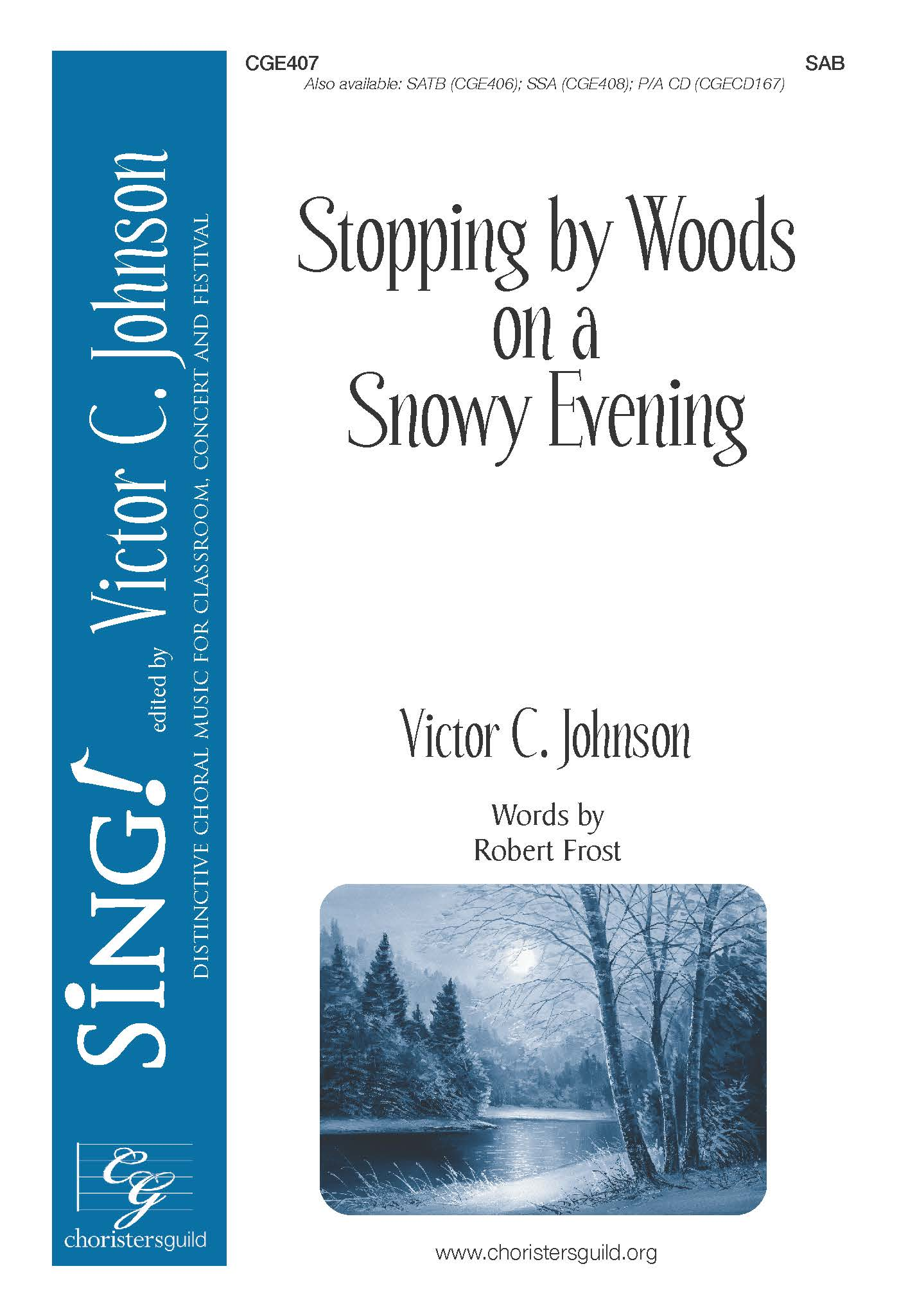 Stopping by Woods on a Snowy Evening - SAB