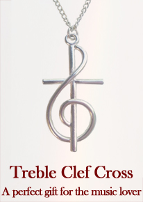 Treble Clef Cross