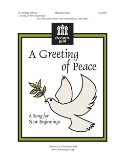 Picture of A Greeting of Peace; Two-part Any Combination of Voices